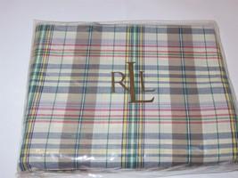 Ralph Lauren Boathouse Madras Plaid full bedskirt New - $43.65