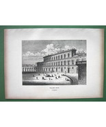 ITALY Florence Pitti Palace - 1880s Wood Engraving - $13.05