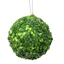"Vickerman Lavish Green Fully Sequined & Beaded Christmas Ball Ornament 3.5"" - $5.68"