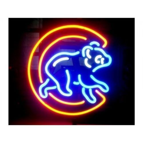 "New Chicago Cubs Logo Baseball MLB Neon Sign 24""x20"""