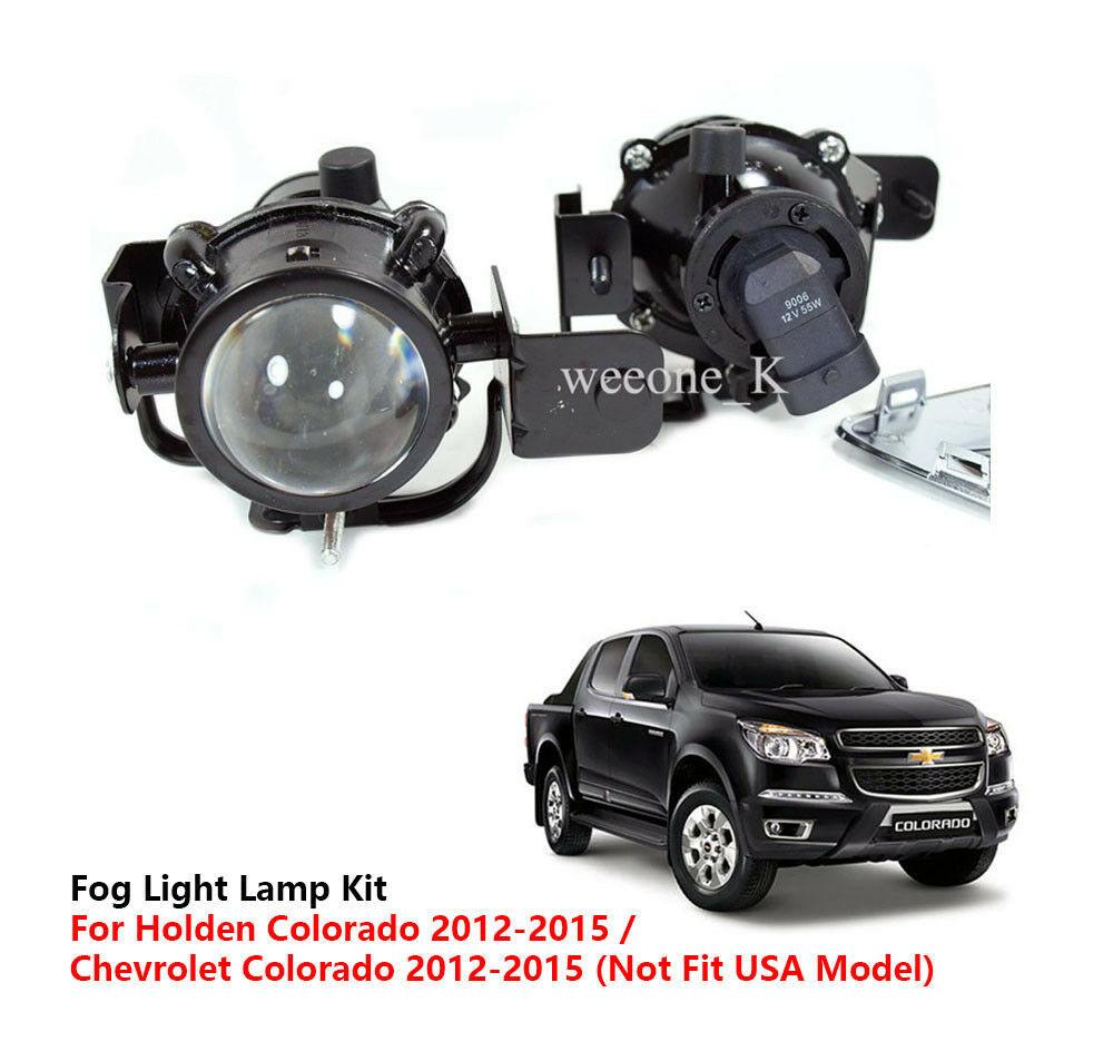FOG LIGHT LAMP KIT FOR CHEVROLET / HOLDEN COLORADO PICKUP 2012 2013 2014 2015