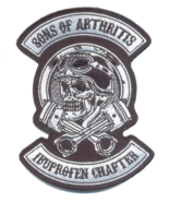 """Sons of Arthritis Biker Patch 12"""" by 9"""" - $29.69"""