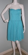 "NWT Womens Guess Turquoise Strapless ""Sarah"" Formal Knee Length Dress Si... - $24.74"