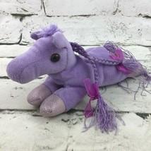 Unipak Pony Mini Plush Purple Beanbag Floppy Stuffed Animal Soft Toy  - $9.89