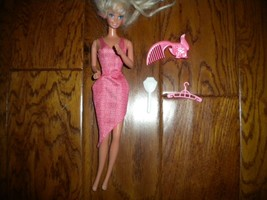 Mattel 2000's Barbie Doll Dress, Brush, Mirror, Hanger 4 Piece Set - $8.91