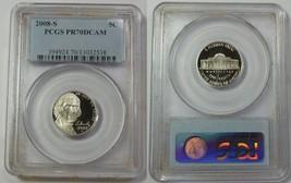2008-S Proof Pcgs Pr Pf 70 Dcam Jefferson Nickel 5c Five Cents Us 20160054 - $46.74
