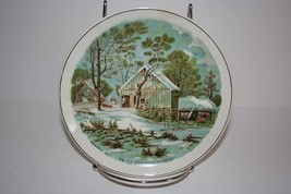 Currier And Ives The Old Homestead In Winter Decorative Plate - $9.71