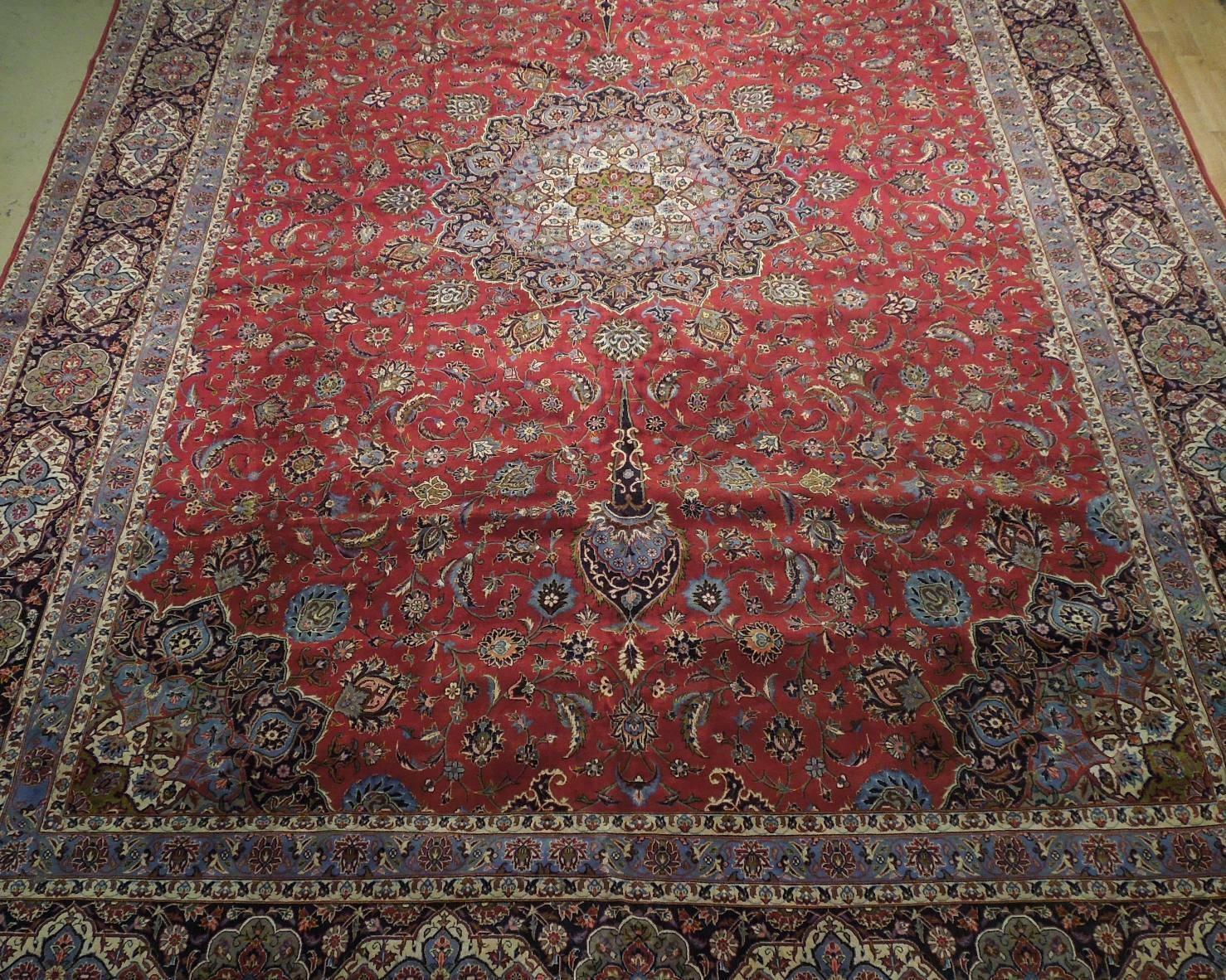 11x17 Red Traditional Handmade Fine Quality Sheik Safi Najaf Persian Rug image 9