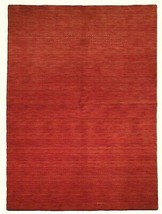 5' x 7' Shades of Red Soft Modern Red Gabbeh Wool Hand-Knotted Rug image 1