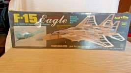 Guillow Models, F-15 Eagle Jet Fighter Balsa Model Kit, #1401 BNOS Sealed - $44.55