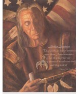Chief Red Cloud Broken Promises Vintage 11X14 Color Native American Photo - $11.95