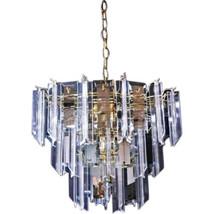Modern Smoked Glass Mirror Lucite Chandelier Hanging Light Fixture Lamp ... - $1,776.30