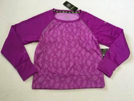 NEW Nike Girls L Purple Epic Flash Crew Fleece Printed Shirt Sweatshirt - $22.99
