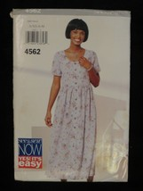 1996 See & Sew Now Butterick 4562 PATTERN Dress Size A XS S M - $7.69