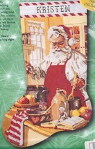 Bucilla A Pinch of Cheer Santa Chef Christmas Cross Stitch Stocking Kit 84107 - $92.95