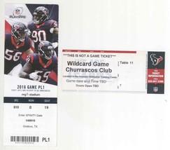 Kansas City @ Houston 1/9/16 Wildcard Playoff Ticket Stub! Chiefs 30 Tex... - $12.61