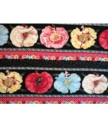 1/2 yd music/Can-Can dancers on black quilt fabric -free shipping - $8.99