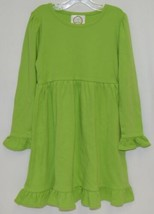 Blanks Boutique Long Sleeve Empire Waist Lime Green Ruffle Dress Size 4T image 1