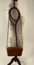 Tory Burch Robinson Chain Strap Tiger's Eye Brown Leather Crossbody Bag image 2