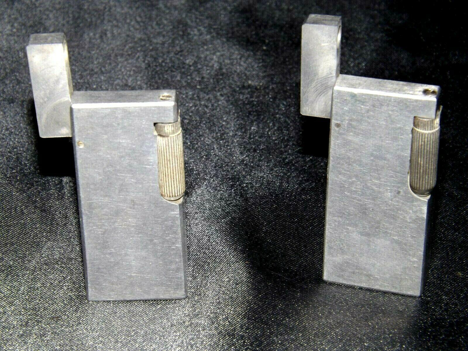 Flint Eaton Decatur Rectangle Lighters AA19-1676 Vintage Two