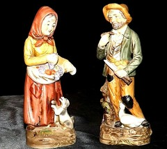 Man and Woman Figurine HOMCO 1415 and 1417 AA20-2258 Vintage Collectible