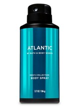 Bath Body Works Men's Collection ATLANTIC Body Spray Mist 3.7 Oz NEW Ful... - $12.83