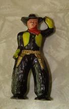 Western Cowboy Lead Toy Figure Vintage - $16.99