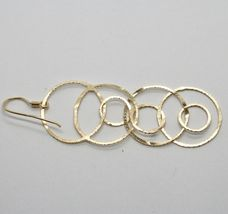 Drop Earrings 925 Silver Foil & Gold Circles by Mary Jane Ielpo Made in Italy image 8