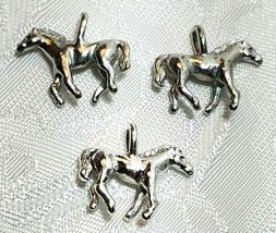 HORSE PONY FINE PEWTER PENDANT CHARM - 3.5mm L x 16mm W x 18.5mm D image 1