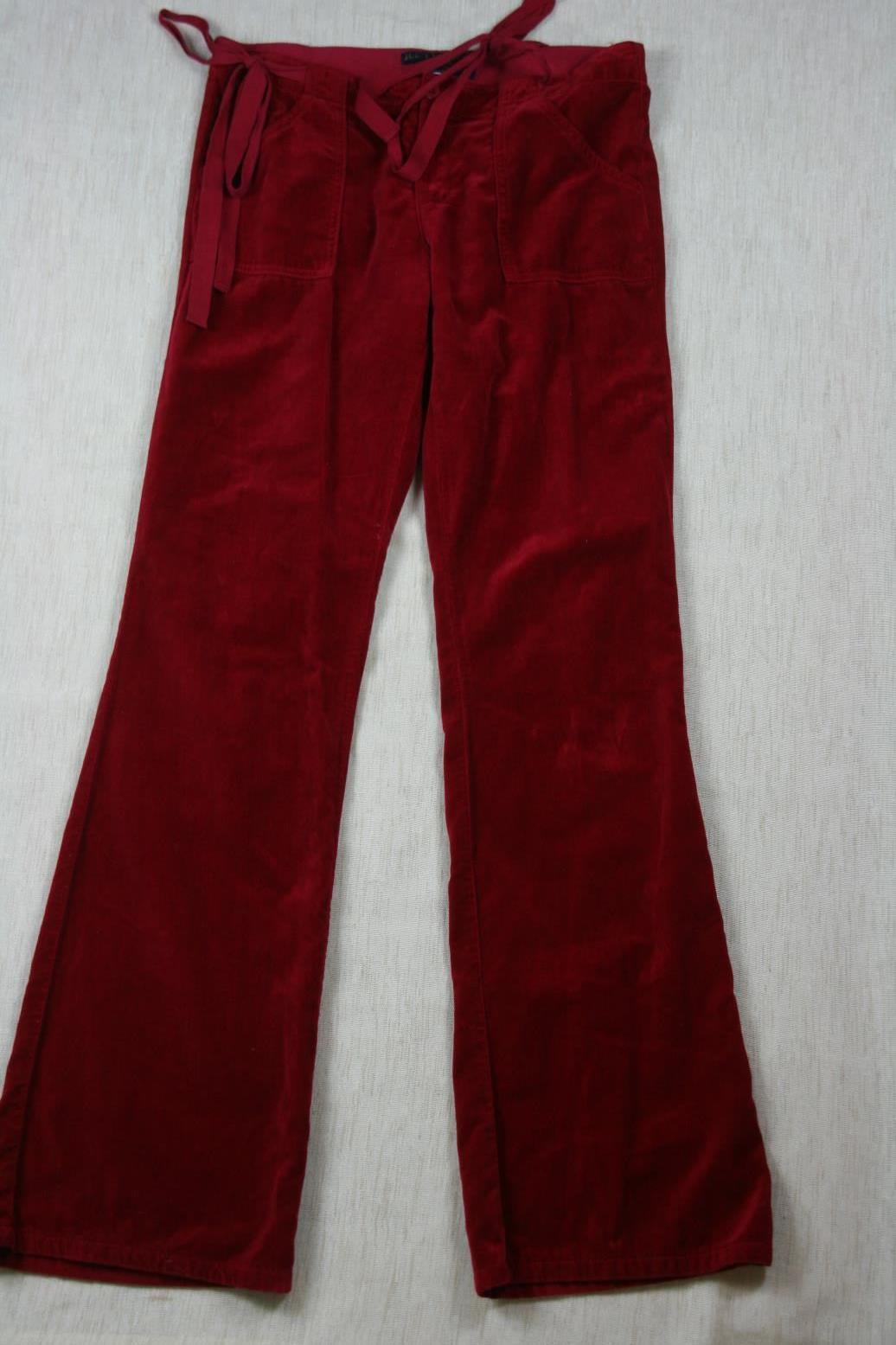Juicy Couture Womens Velvet Velour  Pants Sz 29 X 34 image 2
