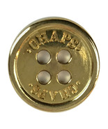 "Ralph Lauren CHAPS Flat Gold tone Metal Replacement Main Front button .80"" - $7.71"