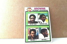 1979 topps 1978 Browns Team Leaders #113 trading card - $0.99