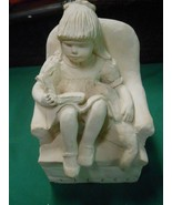 "AUSTIN Statue ""Girl Reading Book "" Bright Eyes Kids 1983 Signed Dee Cro... - $37.21"