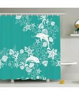 Shower Curtain Marine Creatures Dolphin Print 11852 - $29.65