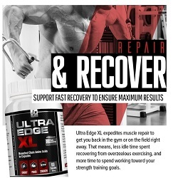 Ultra Edge XL - BCAA Bodybuilding Supplement - Made in the USA image 4