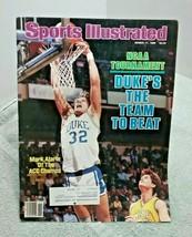 Sports Illustrated March 17 1986 Mark Alarie Duke Basketball - $6.92