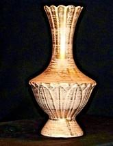 Royal Haeger 22 Karat Gold Tweed 14 inch Vase 424 USA AA19-1553 Vintage