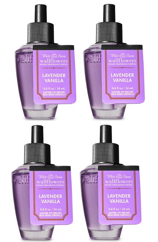 Primary image for 4 Bath & Body Works Lavender Vanilla Wallflower Home Fragrance Refill Bulb
