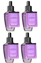 4 Bath & Body Works Lavender Vanilla Wallflower Home Fragrance Refill Bulb - $23.50