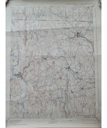 Authentic Antique Winchendon Sheet Topographic Map, MA-NH 1894/1924 - $18.90