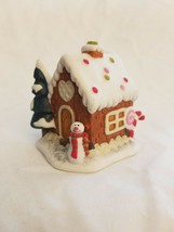 Ceramic Lighted Christmas Snowman House Tree Ornament - $5.44
