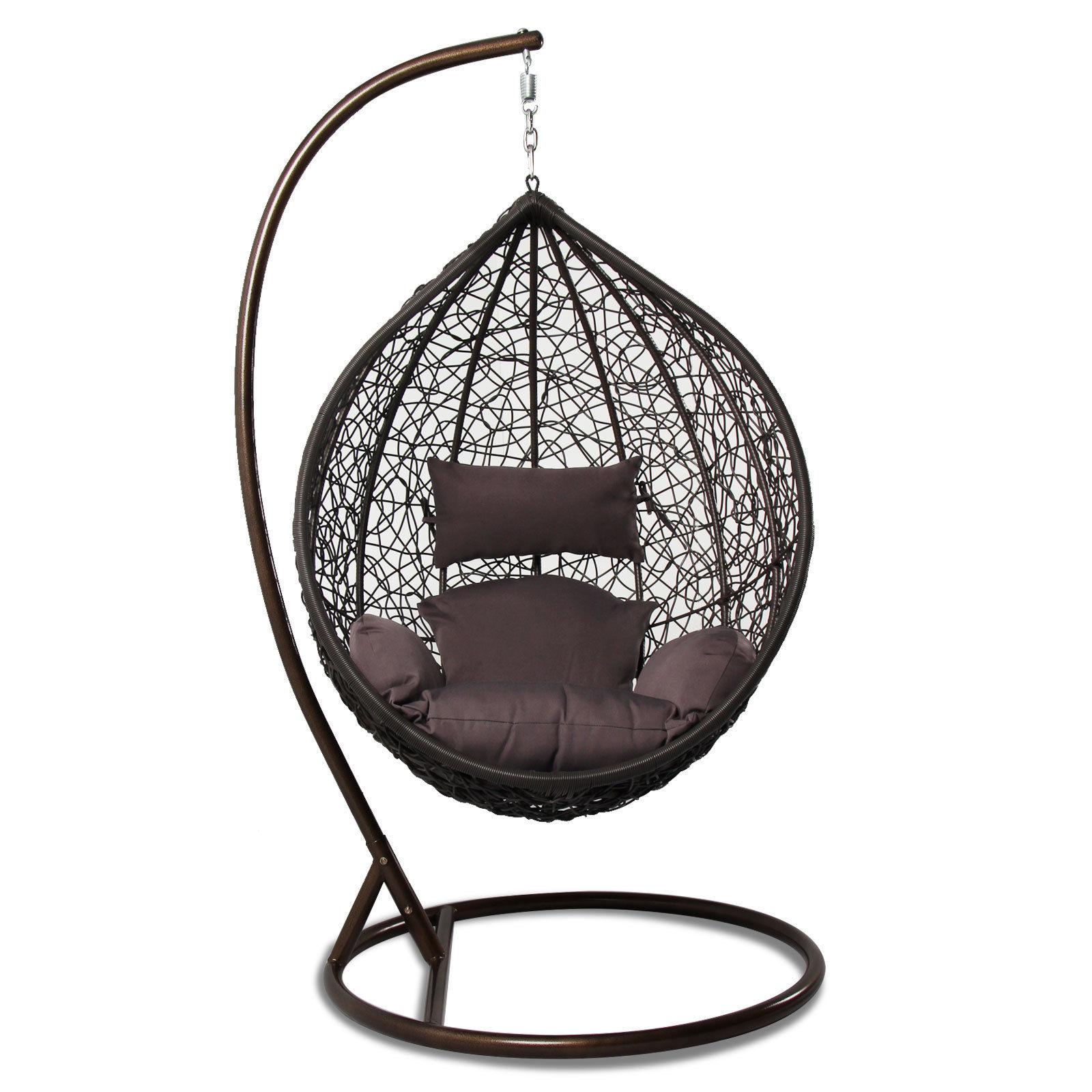 Tear Drop Outdoor Hanging Hammock Wicker Swing Chair Egg ...