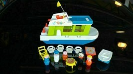 Vintage 1972 Fisher Price Little People Happy Houseboat # 985 INCOMPLETE 2 - $57.65