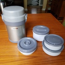 Zojirushi Bento Box Lunch Container Vacuum Portable Microwaveable Gray S... - $28.98