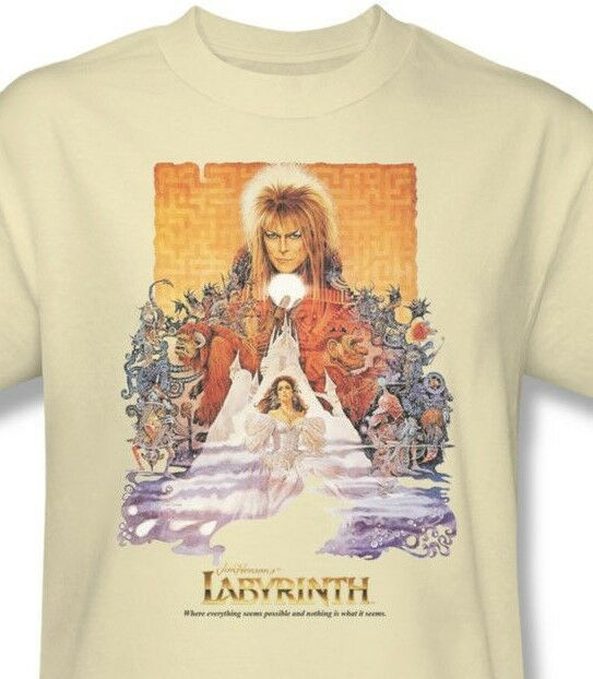 Labyrinth Movie Poster T-shirt retro 80s cool graphic printed cotton tee LAB101