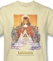 Labyrinth Movie Poster T-shirt retro 80s cool graphic printed cotton tee LAB101 image 1
