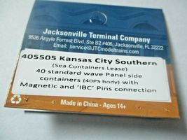 Jacksonville Terminal Company # 405505 Kansas City Southern 40'  Container (N) image 4