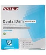 "Crosstex 19100 Dental Dam, Latex, Unflavored, Medium Gauge, 5"" x 5"" Size... - $10.69"