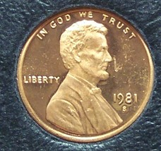 1981-S Proof Lincoln Memorial Penny Typ 1 #01131 - $0.99