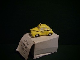 DEPT 56 Snow Village Yellow Taxi Cab 1987 - $7.84